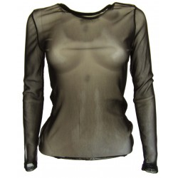 T-shirt en mousseline transparent Itala